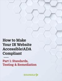 IR Website ADA Compliance