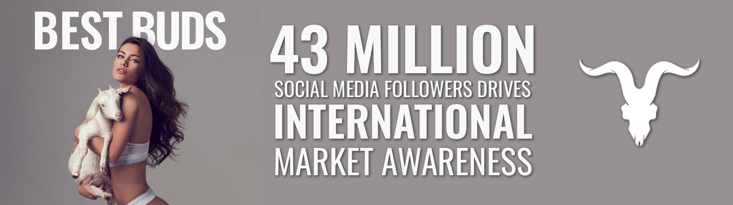 Best Buds: 41 million social media followers drives international market awareness