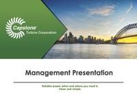 Management Presentation - January 2017