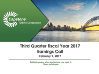 Third Quarter Fiscal Year 2017 Earnings Call - February 9, 2017