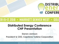Distributed Energy Conference CHP Presentation