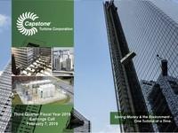 Q3 FY2019 Capstone Turbine Corporation Earnings Presentation