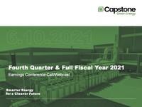 Q4 FY2021 Capstone Turbine Corporation Earnings Presentation