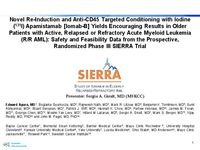 2019 TCT Late Breaking Oral Presentation of Phase 3 SIERRA Trial of Iomab-B