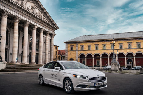 In July 2020, Mobileye announced that Germany's independent technical service provider, TÜV Süd, had awarded it an automated vehicle testing permit. It allows the company to drive its test vehicles in real-world traffic on all German roads at speeds up to 130 kilometers per hour. (Credit: Mobileye)