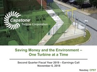 Q2 FY2019 Capstone Turbine Earnings Presentation