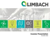Investor Presentation, December 2018