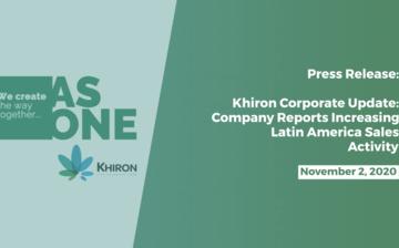 Khiron Corp. Update: Company Reports Increasing Latin America Sales Activity thumbnail