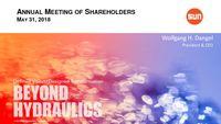 Sun Hydraulics Corporation 2018 Annual Meeting Presentation