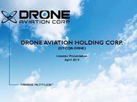 Drone Aviation Corporate Presentation - April 2019
