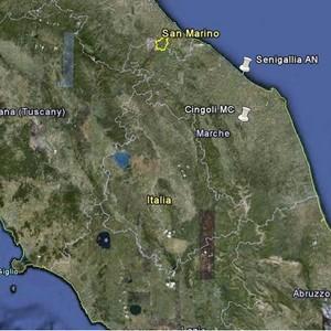 Del Blanco, Italy Map