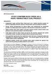 Study Confirms Buck Creek as Highly Marketable Coal