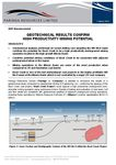 Geotech Results Confirm High Productivity Mining Potential