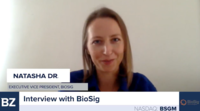 Natasha Drapeau from BioSig ($BSGM) shares details about their new site install and some future developments