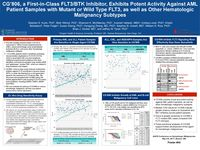 2017 AACR Hematologic Malignancies Conference - CG'806, a First-in-Class FLT3/BTK Inhibitor, Exhibits Potent Activity Against AML