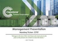 Management Presentation - September 2018