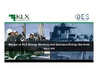Merger of KLX Energy Services and Quintana Energy Services