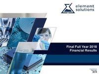 Final Full Year 2018 Financial Results