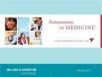 2012 BIO CEO & Investor Conference