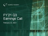 FY'21 Q3 Earnings Call Presentation