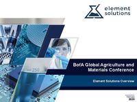 2020 Bank of America Global Agriculture and Materials Conference