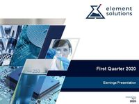 2020 First Quarter Financial Results Call