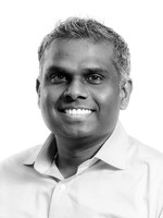 Headshot of Saravan Subramaniam, Senior Director, Project Management Office and Facilities for Medipharm Labs