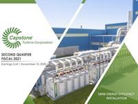 Q2 FY2021 体育投注在线Capstone Turbine Corporation盈利介绍
