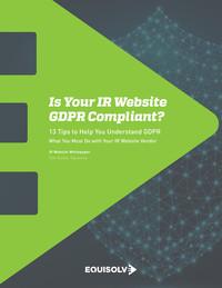 IR Website GDPR Compliance