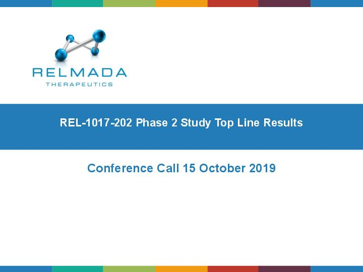 Top-line results from the REL-1017 phase 2 study