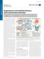 Rezolute profiled in Nature's BioPharma Dealmakers, Nature Biotechnology, and Nature Reviews Drug Discovery, November 2019 editions