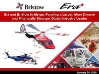 Era and Bristow to Merge, Forming a Larger, More Diverse and Financially Stronger Global Industry Leader