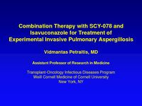 Combination Therapy with SCY-078 and Isavuconazole for Treatment of Experimental Invasive Pulmonary Aspergillosis