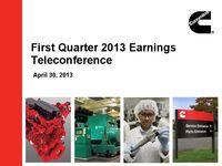 Q1 2013 Earnings Presentation