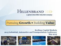 KeyBanc Capital Markets' 2015 Industrial, Automotive & Transportation Conference