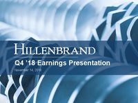 Fourth Quarter 2018 Earnings Conference Call