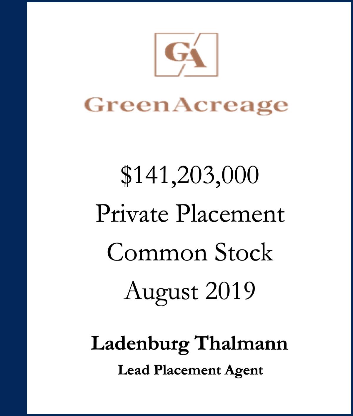 Green Acreage