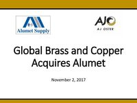 Global Brass and Copper Acquires Alumet