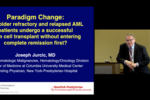 Joseph Jurcic, M.D. discussing Iomab-B in Refractory AML: can older patients with active disease be transplanted?