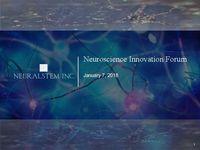 Neuroscience Innovation Forum Presentation