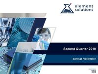 2019 Second Quarter Financial Results Call
