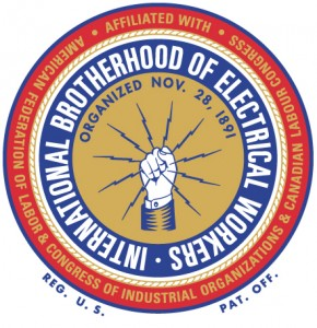 The International Brotherhood of Electrical Workers (IBEW).