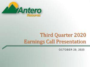 Third Quarter 2020 Earnings Call