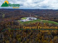 Antero Resources Company Presentation - December 2020