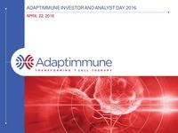 2016 Adaptimmune Analyst and Investor Day