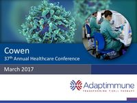 March 2017 Corporate Presentation: Cowen