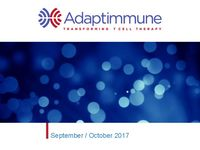 September/October 2017 Corporate Presentation