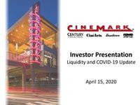 Investor Presentation - Liquidity and COVID-19 Update
