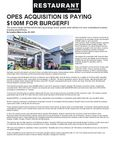OPES Acquisition is paying $100M for BurgerFi