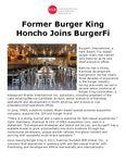 Former Burger King Honcho Joins BurgerFi